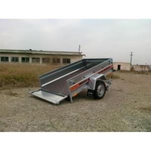 Remorca 750 kg Agro basculabil dim 205x122cm, RAR Efectuat - imagine 2
