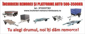 Inchiriez toata gama de remorci si platforme auto 80 ron/zi /Tel 0732442928 - imagine 4