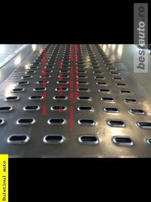 Tabla perforata,zincata Platfome auto,trape,cale ,lungime 2.5 m ,latime 625,grosime 2 si 3 mm - imagine 7