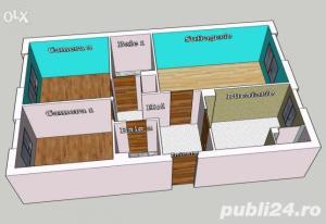 vand apartament 3 camere decomandat confort 1 - imagine 3
