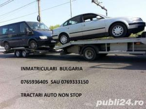 Tractari auto platforma slep non stop inmatriculari Bulgaria asigurari - imagine 1