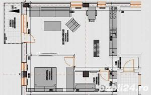 2 camere 55 mp semifinisate,  si loc de parcare subteran inclus in pret - imagine 10