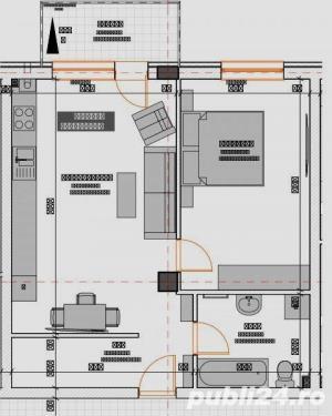2 camere 55 mp semifinisate,  si loc de parcare subteran inclus in pret - imagine 9