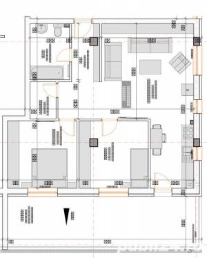 2 camere 55 mp semifinisate,  si loc de parcare subteran inclus in pret - imagine 13