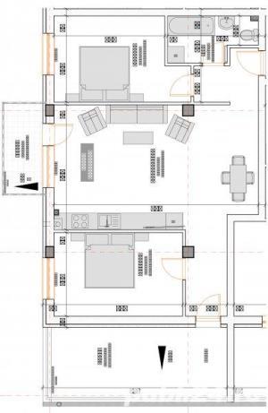 2 camere 55 mp semifinisate,  si loc de parcare subteran inclus in pret - imagine 12