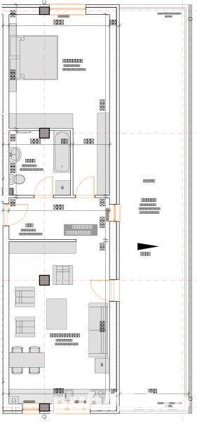 2 camere 55 mp semifinisate,  si loc de parcare subteran inclus in pret - imagine 14