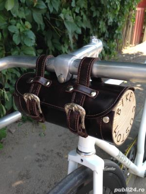 Gentuta Bicicleta Vintage - Piele Naturala - imagine 4