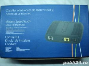 Kit ClickNet Modem ADSL Thomson SpeedTouch ST516 V6 NOU - imagine 2