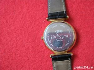Ceas de firma Richelieu Swiss Made original placat Au 10+ - imagine 3