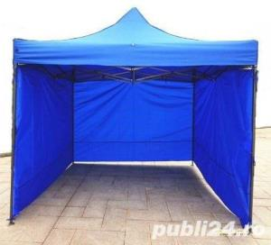 Pavilion 3x3 cu pereti  pe 3 sau 4 laturi pliabil NOU  - imagine 1