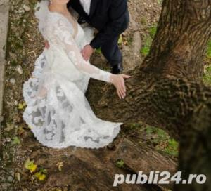 PRONOVIAS Barcelona - White One Tango - Rochie de mireasa Originala, marime 36 - imagine 5