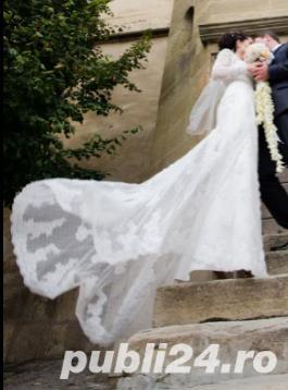 PRONOVIAS Barcelona - White One Tango - Rochie de mireasa Originala, marime 36 - imagine 6
