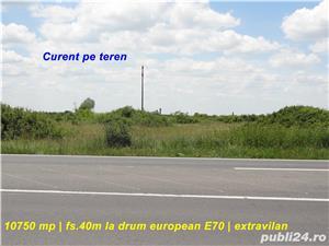 Teren 10.750 mp cu front la drum european si curent trifazic in dreptul localitatii Padureni  - imagine 1