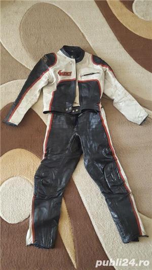 Costum moto piele - imagine 1