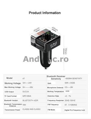 Bluetooth Handsfree Car Kit - imagine 6