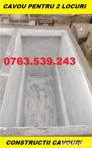 Constructii cavouri cripte IEFTINE din beton armat mozaic granit marmura - imagine 4