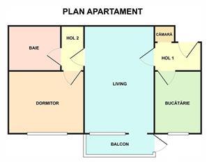 Vand apartament cu doua camere - imagine 2
