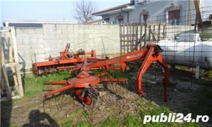grebla pt tractor , DEUTZ-FAHR, 4 metri, cu 2 rotative cu 6 brate fiecare - imagine 2