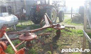 grebla pt tractor , DEUTZ-FAHR, 4 metri, cu 2 rotative cu 6 brate fiecare - imagine 1