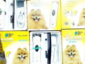 Masina tuns caini pisici Pet Hair Clipper functioneaza cu acumulator sau la 220V Pret 40 lei - imagine 1