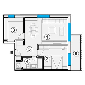 2 camere constructie noua, Centru 10 min de Livada Postei - imagine 3