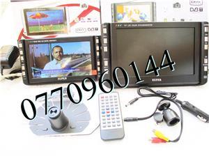Televizor auto 12V 220V USB 18 cm Color, slot de card  si USB, priza 220V si adaptor pentru - imagine 5