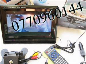 Televizor auto 12V 220V USB 18 cm Color, slot de card  si USB, priza 220V si adaptor pentru - imagine 6