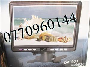 Televizor auto 12V 220V USB 18 cm Color, slot de card  si USB, priza 220V si adaptor pentru - imagine 2