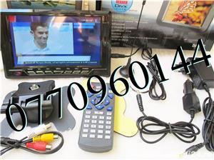 Televizor auto 12V 220V USB 18 cm Color, slot de card  si USB, priza 220V si adaptor pentru - imagine 7