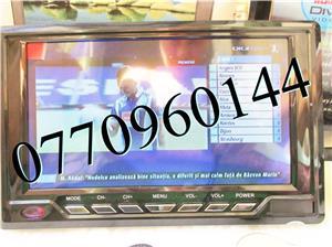 Televizor auto 12V 220V USB 18 cm Color, slot de card  si USB, priza 220V si adaptor pentru - imagine 8