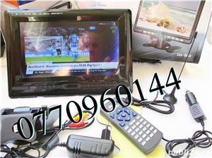 Televizor auto 12V 220V USB 18 cm Color, slot de card  si USB, priza 220V si adaptor pentru - imagine 4