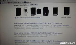 boxa activa 500w cu intrare auxiliar laptop, mobil, cd,ipod, etc ideal pentru sonorizari evenimente - imagine 15