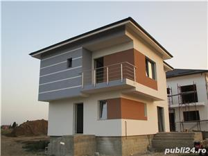 FARA COMISIOANE casa cu 4 camere P+1+pod 3 bai 2 placi 2 terase canalizare iluminat drum betonat - imagine 2