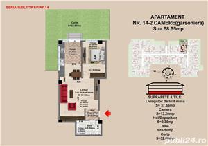 Apartament de vanzare semidecomandat ( 2 camere 58.5 mp) - imagine 4