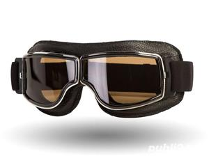 Ochelari de protectie Moto , Chopper , Cafe Racer , Retro  - imagine 1