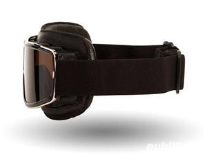 Ochelari de protectie Moto , Chopper , Cafe Racer , Retro  - imagine 2