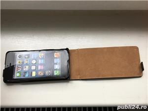 Iphone 5, 5s, SE husa de piele de firma tip carte . - imagine 5
