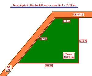 Teren Agricol - 31 Ha = 8 Ha + ( 10 Ha + 13 Ha ) - 12.000 Euro / Ha - imagine 3