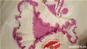 Pelerine cu caciulita pentru fetite  - imagine 2