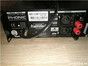 Vand amplificator PHONIC MAX 1500  stereo 450W/CH - imagine 1
