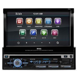 Dvd auto 1din motorizat, Bluetooth, Fata detasabila, USB, taste cu iluminare reglabila, multicolore. - imagine 1