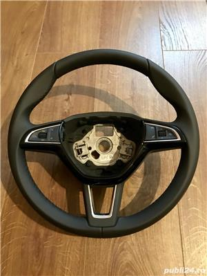 Volan piele Skoda Octavia 3 facelift - imagine 1