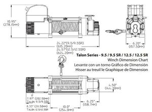 Troliu Superwinch Talon 9500lbs (trage 4309kg) - imagine 5