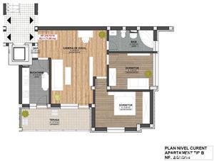 Dezvoltator apartam nou 3 cam cu terasa 71+12 mp la cheie zona Majestic  - imagine 3