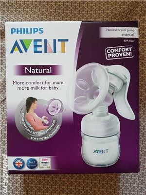 NOUA (SIGILATA) Pompa pentru san manuala cu biberon Philips-AVENT SCF330/20 - imagine 1
