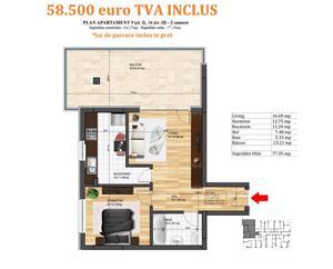 Apartament 2 camere cu TERASA SUPERBA! bloc nou Magurele - imagine 5