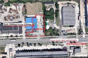 Vindem imobil(spatii depozitare si birouri)u teren 1,2ha zona Industriala Est Sibiu - imagine 1