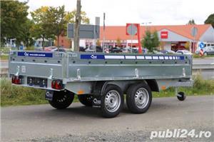 Remorca Platforma 750 kg Cu 2 Axe Si Dim Utila 250x150 cm, cu RAR - imagine 1