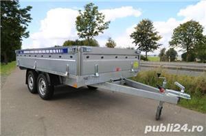 Remorca Platforma 750 kg Cu 2 Axe Si Dim Utila 250x150 cm, cu RAR - imagine 3