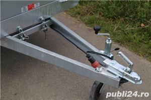 Remorca Platforma 750 kg Cu 2 Axe Si Dim Utila 250x150 cm, cu RAR - imagine 5